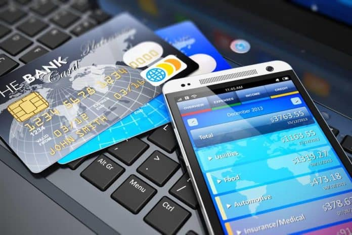 mobile banking with credit cards