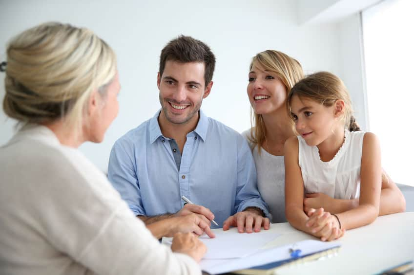 Family meeting real estate agent