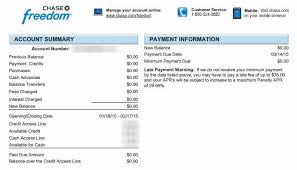 chase credit card statement