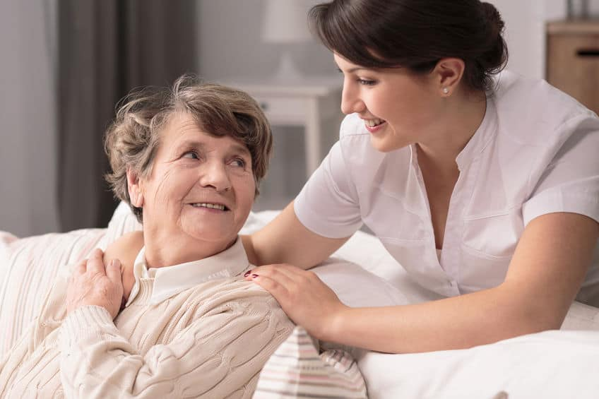 caregiver with older lady